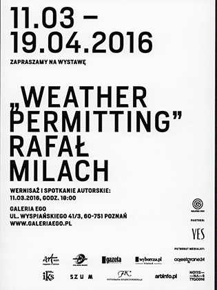 Weather Permitting Rafał Milach